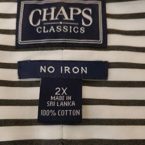 Chaps Tops - Chaps Classics Black & White  Stripe2X
